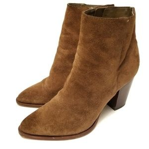 Sam Edelman 7.5 Brown Suede Ankle Heeled Boots